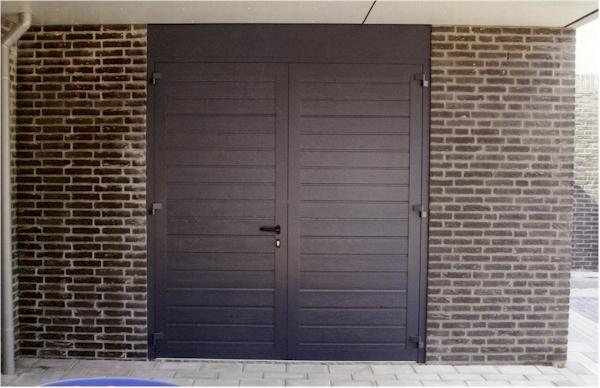 Duoport openslaande geїsoleerde garagedeur